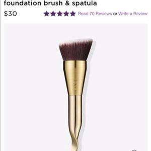 Tarte Foundation brush & spatula, brand new in box